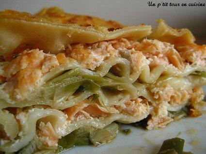 Recette de lasagnes aux deux saumons et aux poireaux