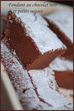 Recette de fondant au chocolat noir et petits suisses