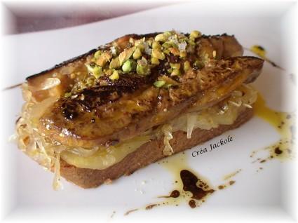 Recette de foie gras poêlé, lit de pommes,choucroute cannelle