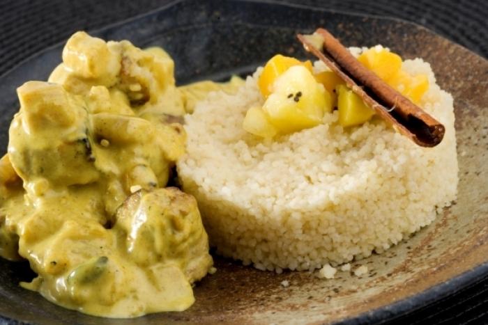 b uf au curry fruits secs et amandes au four recette. Black Bedroom Furniture Sets. Home Design Ideas