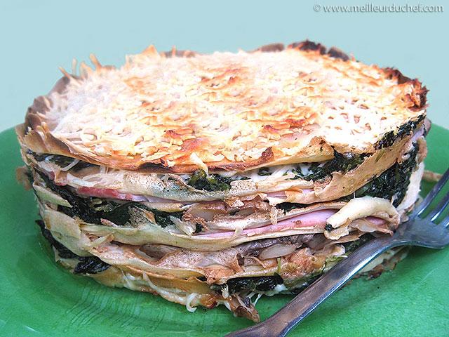 Gâteau de crêpes au jambon  la recette avec photos ...