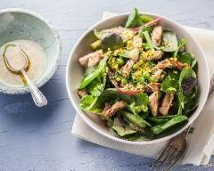 Recette salade d'émincé de veau à la verde et vinaigrette mimosa ...