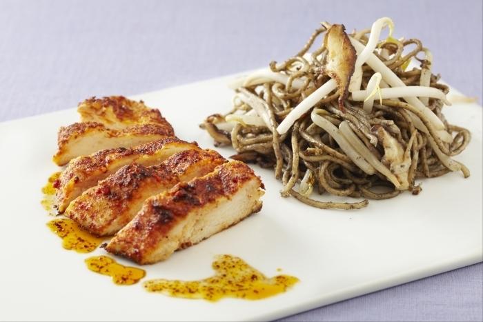 Aiguillettes de poulet aux nouilles chinoises facile for Plat convivial rapide