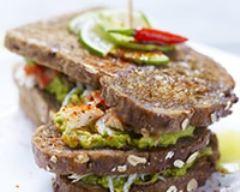 Recette sandwich basque avocat crabe