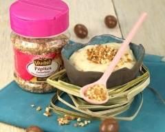Recette crèmes au chocolat blanc et aux spéculoos, pépites ...