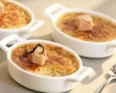 Recette crème brûlée de foie gras et figues