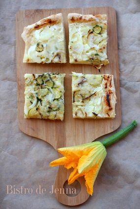 Recette de pizza aux courgettes et pommes de terres