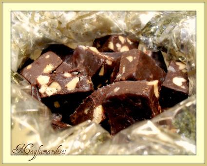 Recette de fudges au chocolat noir et peanut butter