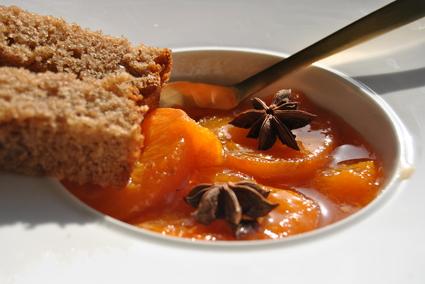 Recette de pain d'épices et compotée d'abricots