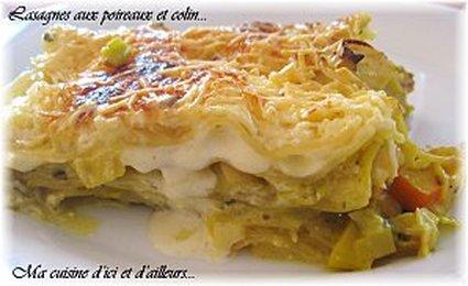 Recette de lasagnes aux poireaux et colin