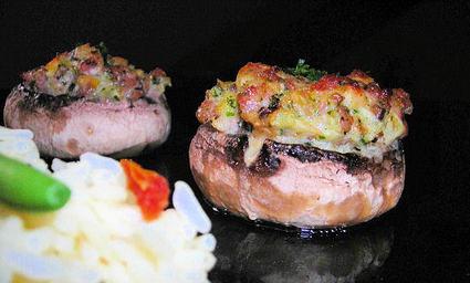 Recette de champignons farcis à la viande