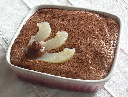Recette de tiramisu aux poires et à la crème de marrons