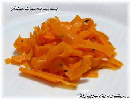 Recette de salade de carottes à la marocaine