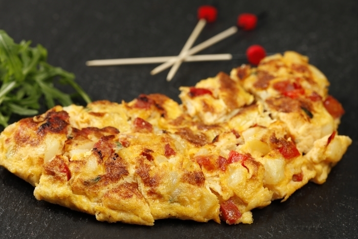 Recette de tortilla chorizo/pomme de terre facile et rapide