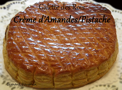 Recette de galette des rois amandes pistache cerises