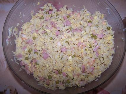 Recette de riz cantonais maison aux lardons, crevettes et petits pois