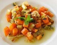 Recette carottes et poireaux à la menthe