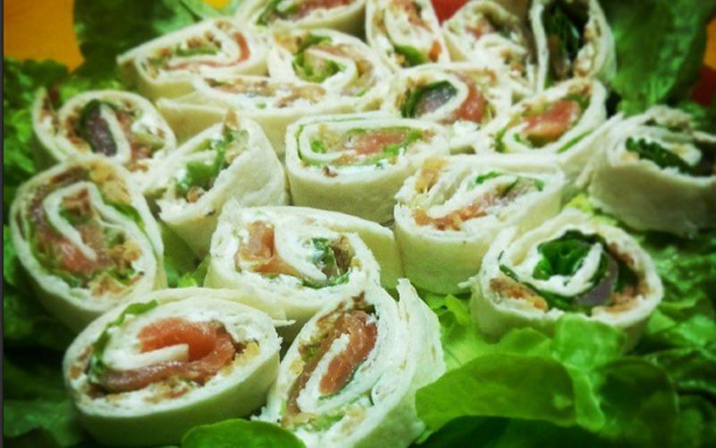 Recette wrap saumon / carré frais pas chère et express > cuisine ...