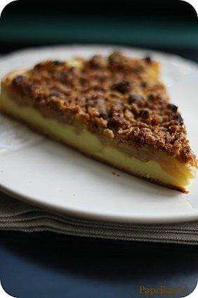 Recette de tarte-flan aux pommes et crumble spéculoos