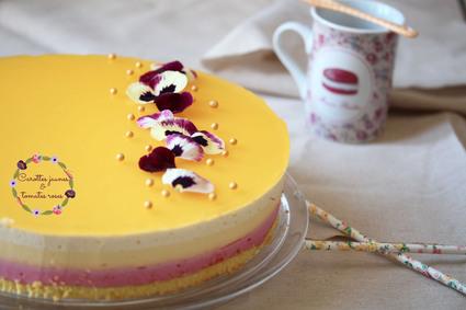 Recette de bavarois framboise, mangue, vanille et fruit de la ...