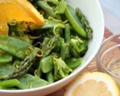 Recette salade toute verte aux zestes d'orange