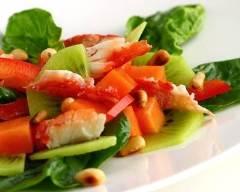 Recette salade de crabe aux kiwis et pamplemousse
