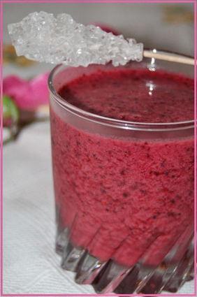 Recette de smoothie aux fruits rouges