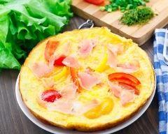 Recette omelette au jambon cru