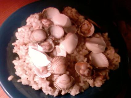 Recette de risotto aux coques