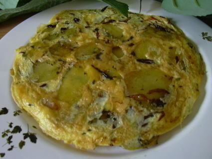 Recette omelette de pommes dorées à la graisse d'oie