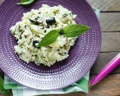 Recette risotto aux olives noires et parmesan
