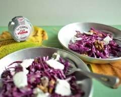 Recette salade craquante aux noix de grenoble et au crottin de ...