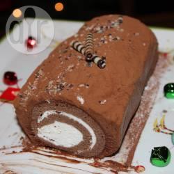 Recette bûche à la crème chantilly et mousse aux chocolat – toutes ...