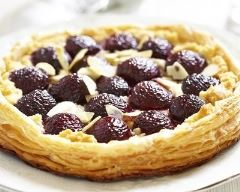 Recette tarte cerises et amandes effilées