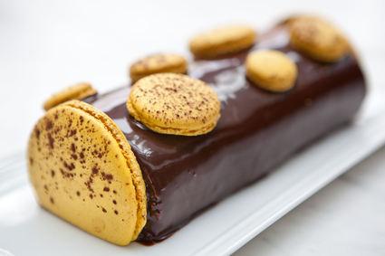 Recette de bûche chocolat-passion de pierre hermé