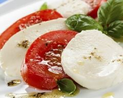 Recette salade caprese tomate mozzarella