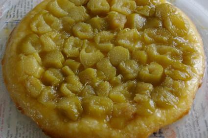 Recette de tarte à la rhubarbe façon tatin
