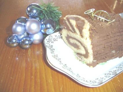 Recette de bûche aux marrons et chocolat