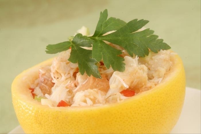 Recette de salade de pamplemousse au crabe facile et rapide