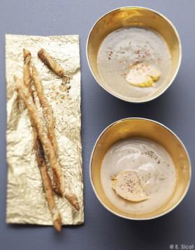 Velouté de châtaignes au foie gras pour 4 personnes