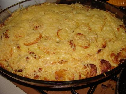 Recette de gratin fondant de pommes de terre, courgettes et ricotta ...