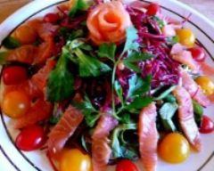 Recette salade de mâche saumon fumé