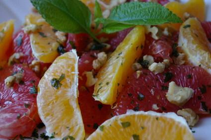 Recette de salade d'oranges et de pamplemousses