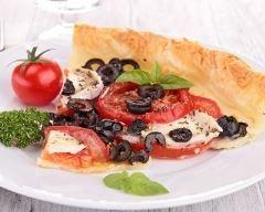 Recette tarte aux tomates, olives noires et chèvre