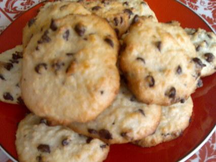 Recette de cookies noix de coco, pépites chocolat sans lactose