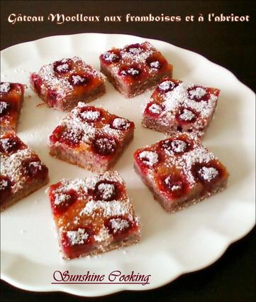 Recette de gâteau moelleux aux framboises et à l'abricot