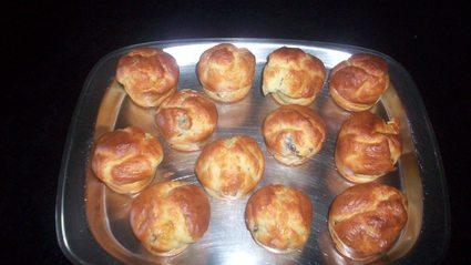 Recette de muffins aux gésiers de canard confit et chèvre