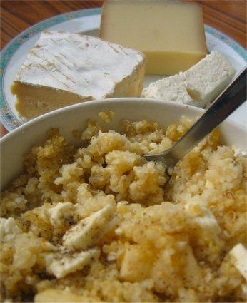Recette de gratin de quinoa jambon-fromage