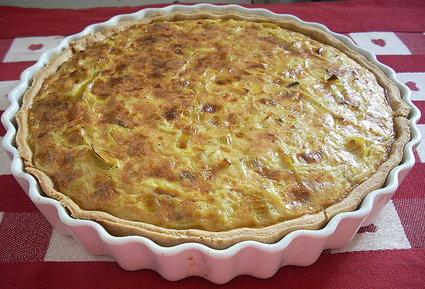Recette de tarte aux poireaux et à la fourme d'ambert