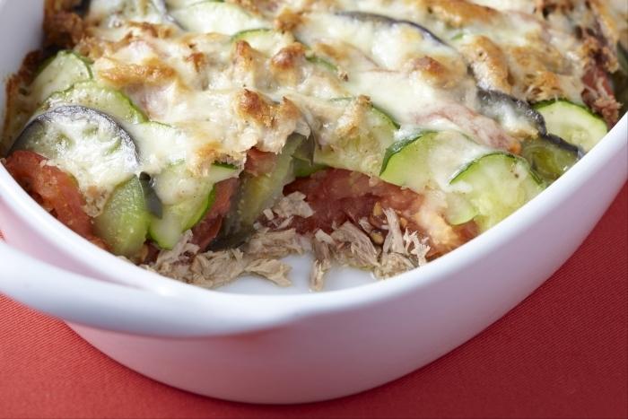 Recette de tian de légumes au thon facile et rapide